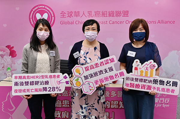 雙標靶藥物有效防乳癌復發 團體促納入藥物名冊