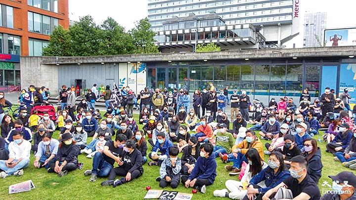 英國曼城數百人出席撐蘋果集會