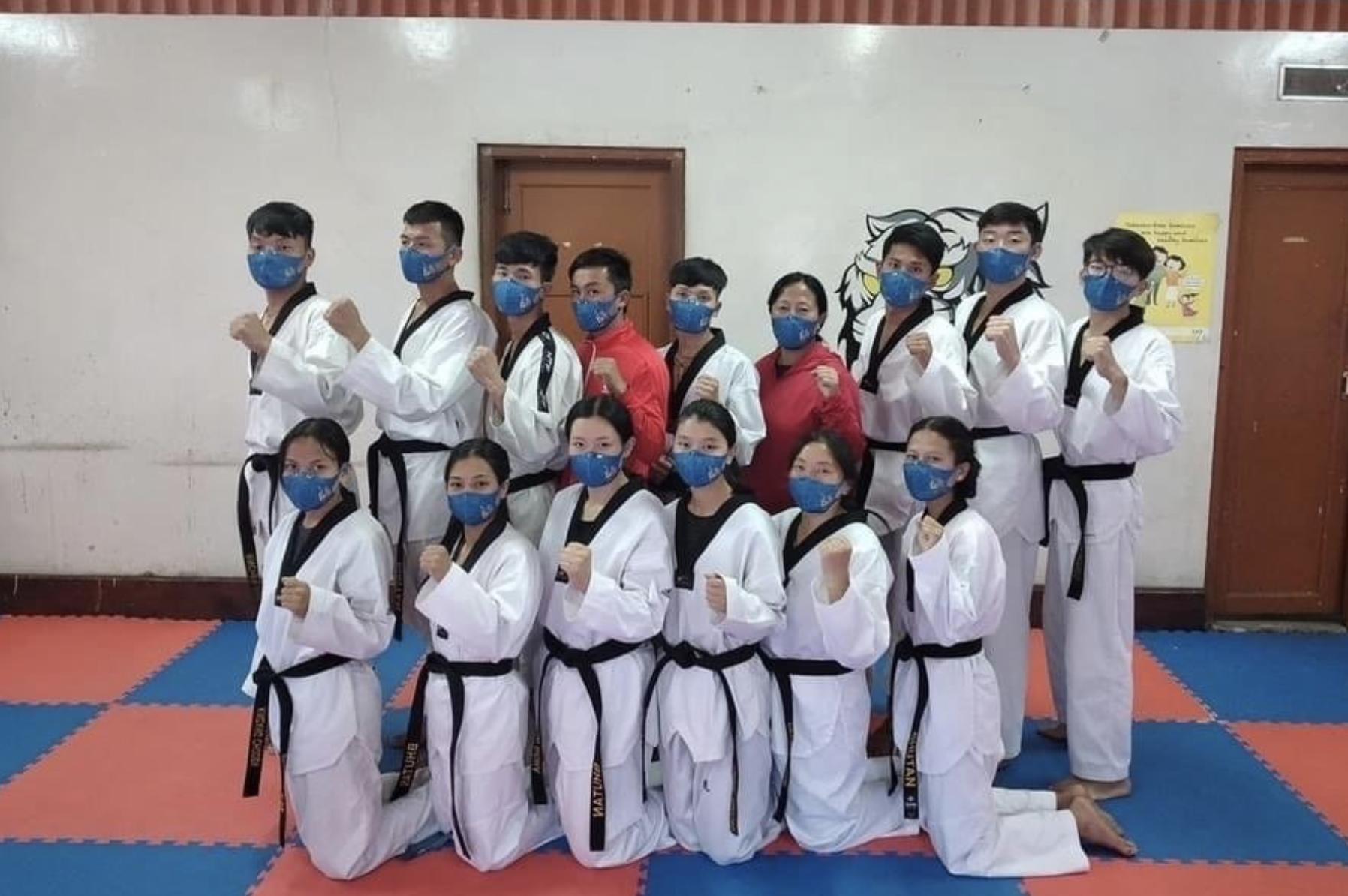 不丹奧運隊選用香港口罩品牌「諾翹 FaceOff」。(「諾翹 FaceOff」提供)