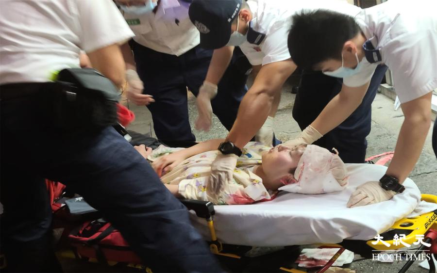 【突發】旺角鼓油街找換店外發生傷人事件 一女子被打頭部流血【影片】