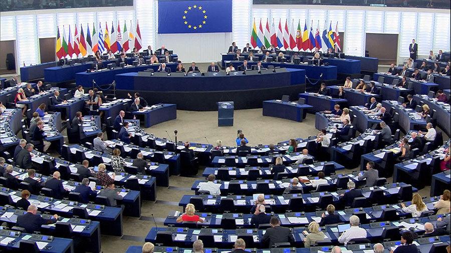 2016年9月12日歐洲議會主席舒爾茨在法國斯特拉斯堡召開暑期過後的第一次全體會議上宣佈制止活摘器官的48號書面聲明。(歐洲議會© European Union 2016)