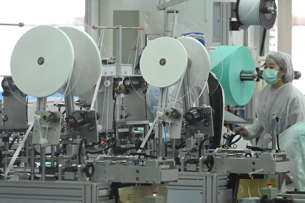 IHS Markit今(7月1日)公佈6月份台灣製造業採購經理人指數數值為57.6,反映商業活動正在擴張。(SAM YEH/AFP via Getty Images)