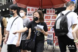 七一嚴防|社工陳虹秀:擺街站被阻 應該做的事情就要去做