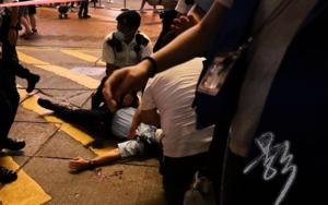 【突發】男子持刀刺傷警員後再自刺  昏迷送院後証實身亡  蕭澤頤曾到場視察(影片)