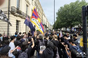7.1倫敦集會|數百人中使館外抗議中共毀港24年 羅傑斯裴倫德鄭文傑等人發言
