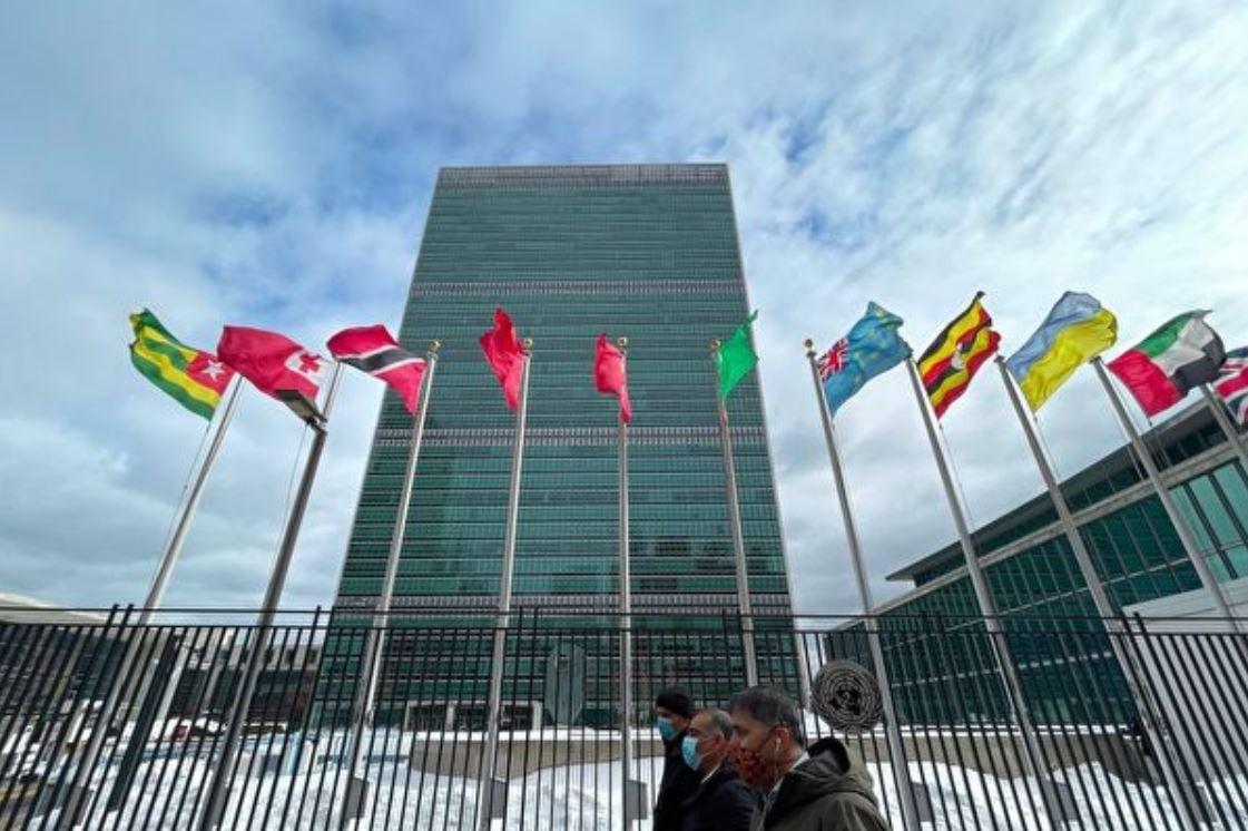 聯合國多名人權專家周四呼籲中共廢除「港區國安法」。圖為位於紐約的聯合國大廈。(Monika GraffGetty Images)
