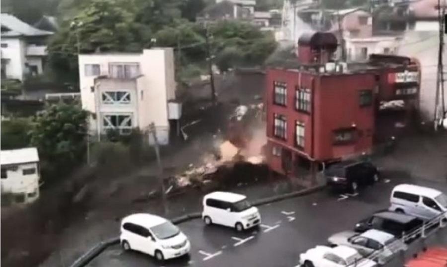 日本靜岡突發大規模山泥傾瀉 二十人下落不明