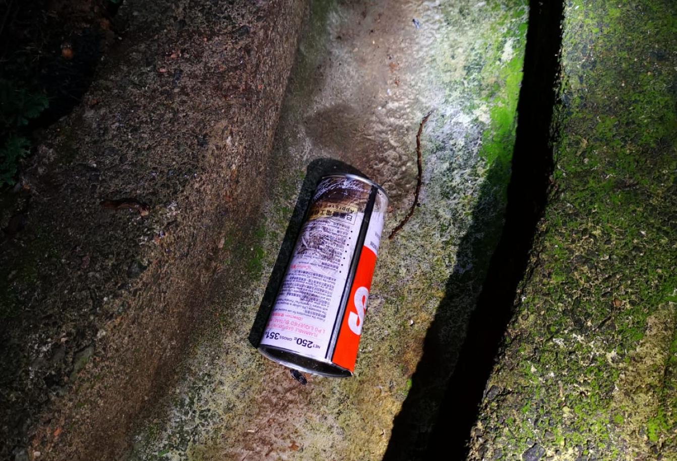 7月1日凌晨,禮賓府遭人投擲易燃物品。(香港警察Facebook)