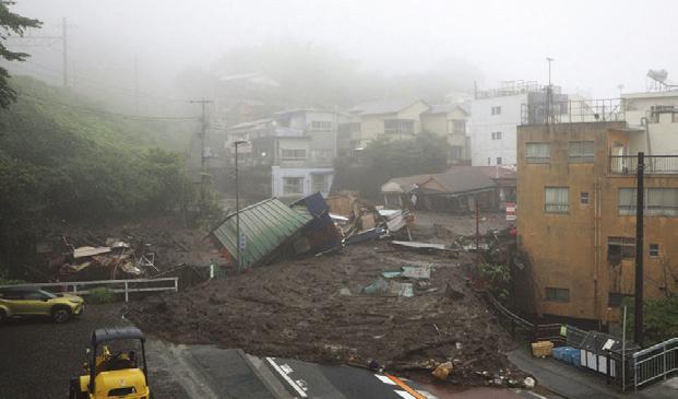 日本大規模土石流2死約20失蹤 千人投入搜救