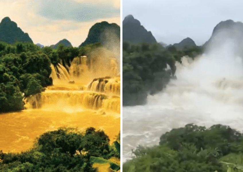 廣西暴雨百萬人遭災 央視聚焦「黃金瀑布」挨轟