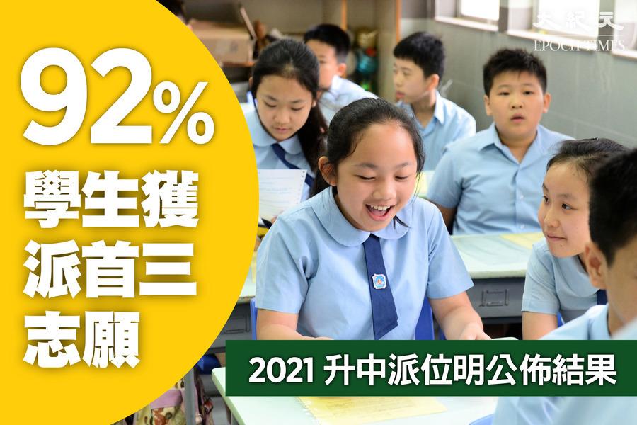 【升中派位】明日公佈結果 92%學生獲派首三志願