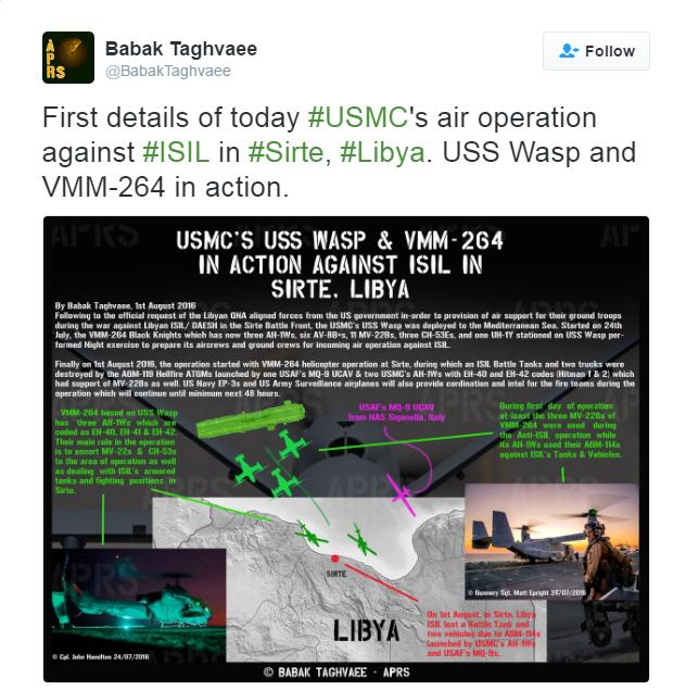美軍打擊IS的軍事行動概況圖。(Babak Taghvaee推特截圖)