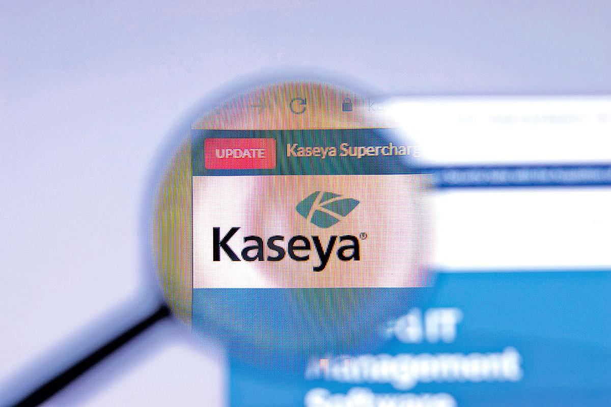 資訊科技公司卡塞亞網頁顯示的公司標誌。(Shutterstock)