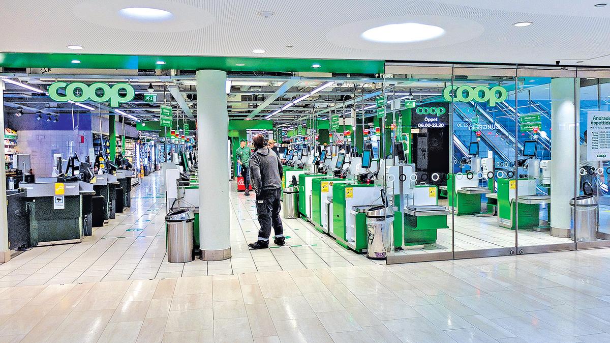 瑞典連鎖超市經營商Coop遭受網絡攻擊,被迫關店。圖為斯德哥爾摩的一家Coop超市。(Shutterstock)