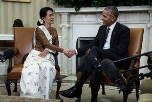 昂山素姬訪美 奧巴馬:將解除對緬經濟制裁