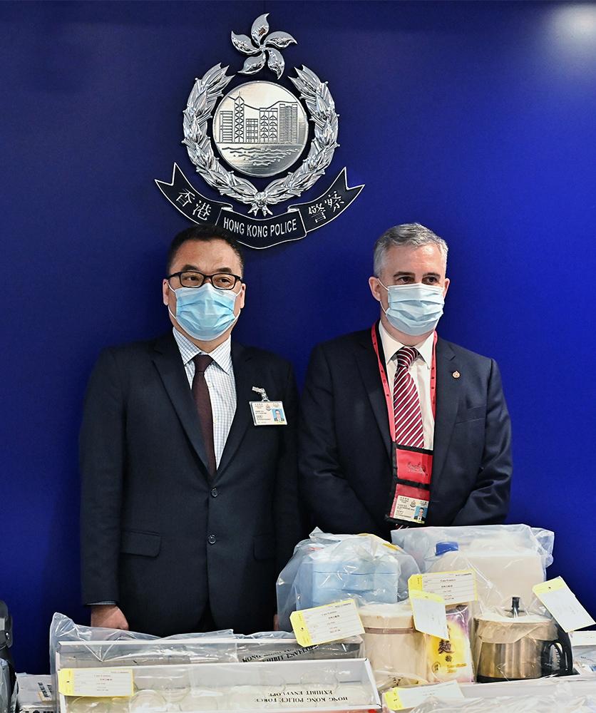 國安處拘捕九人涉製炸彈