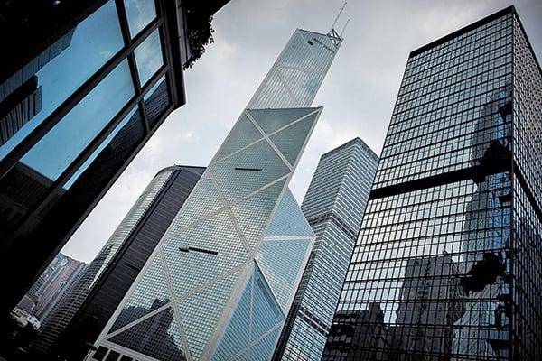 戴德梁行(Cushman & Wakefield)7月7日發表香港寫字樓、商舖租賃市場第二季表現報告。(PHILIPPE LOPEZ/AFP/Getty Images)