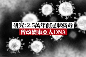 研究:2.5萬年前冠狀病毒曾改變東亞人DNA