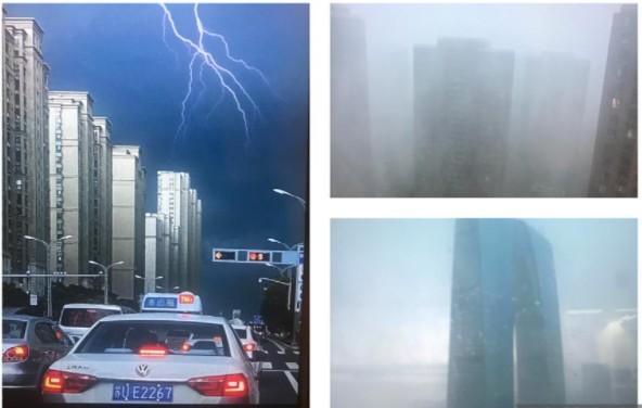 蘇州暴雨白晝如黑夜 網民: 仿佛世界末日