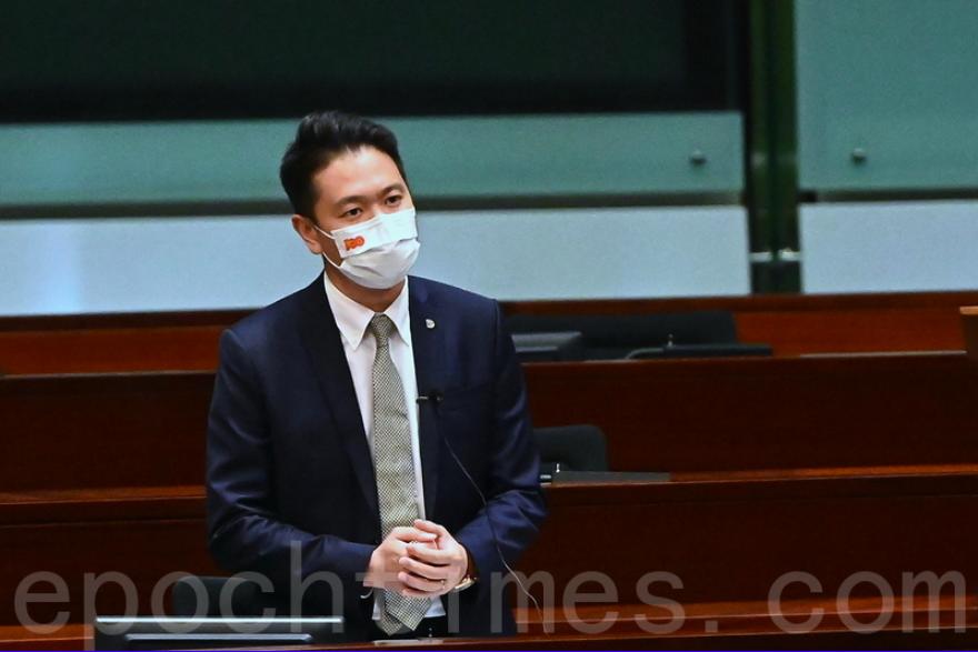 2021年7月7日,立法會議員、民建聯周浩鼎。(宋碧龍/大紀元)