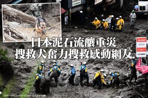 日本泥石流釀重災 搜救犬奮力搜救感動網友