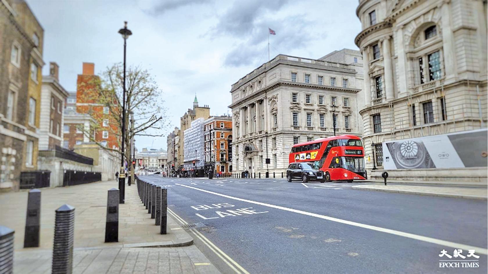 英國政府修例,容許BNO貧困人士申請政府資助。圖為倫敦唐寧街10號外。(文苳晴/大紀元)