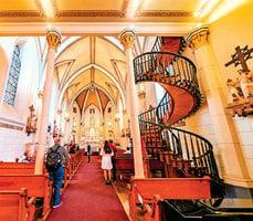 【未解之謎】美國教堂 神奇的螺旋樓梯