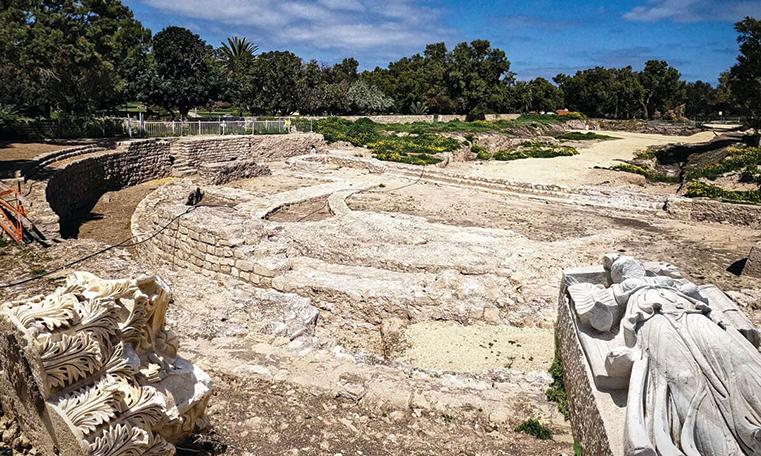 古羅馬大教堂建築宏偉 以色列出土