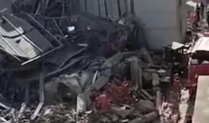 江蘇一酒店坍塌事故 至少15人被埋