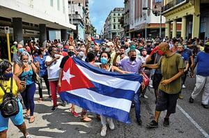古巴爆大規模抗議 要求結束共產主義獨裁統治