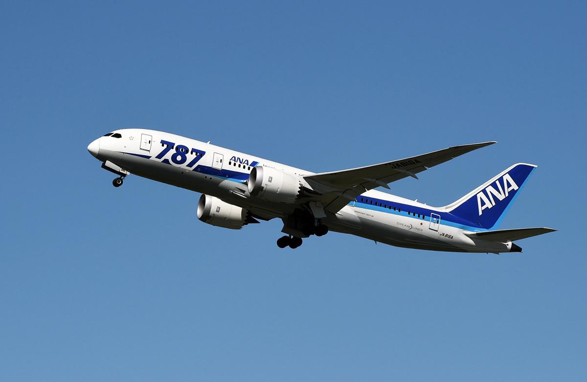 圖為日本全日空航空公司的波音787夢幻客機。(AFP)