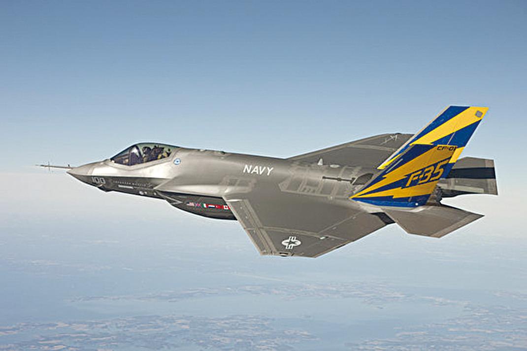 F-35。(U.S. Navy photo courtesy Lockheed Martin via Getty Images)