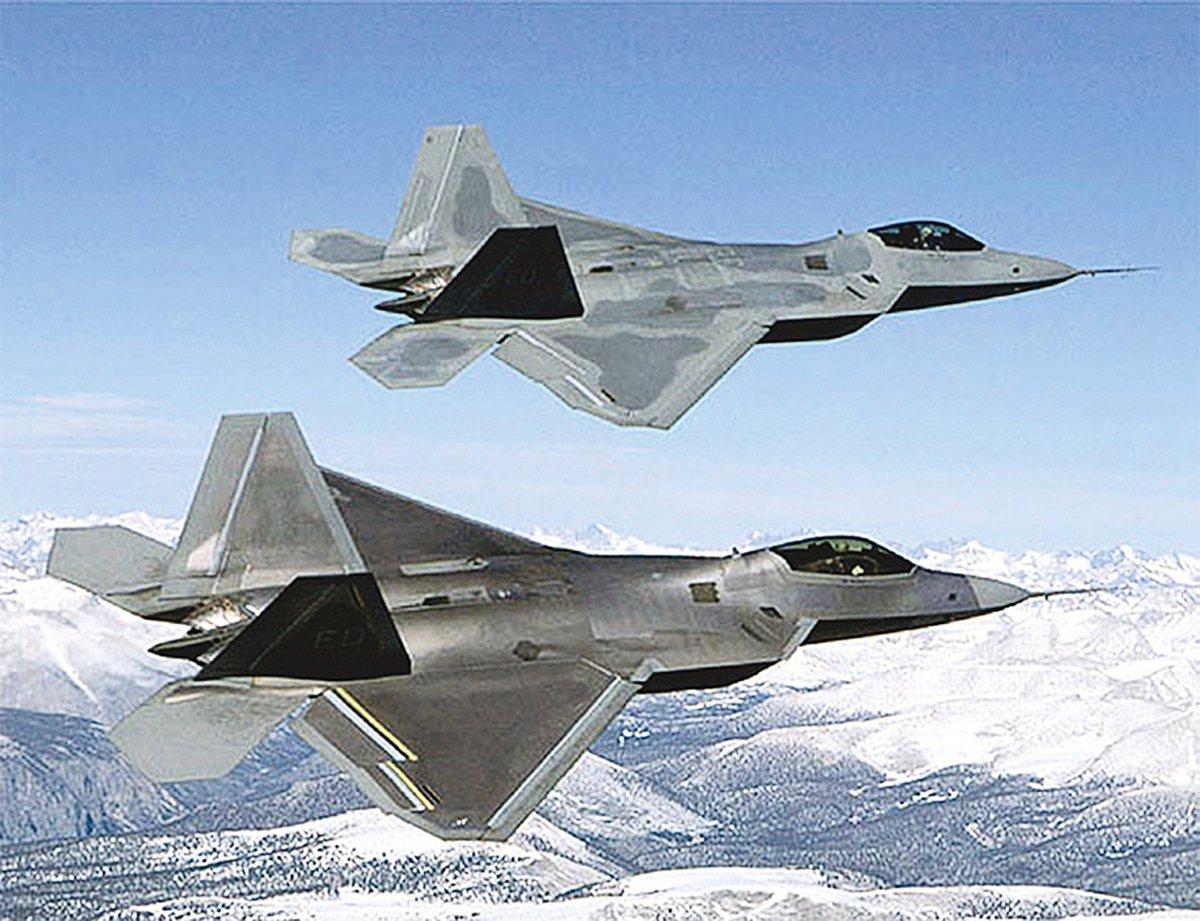 F-22。(AFP)