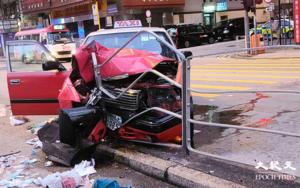 【快訊】清晨5時油麻地彌敦道 的士失控撞倒行人