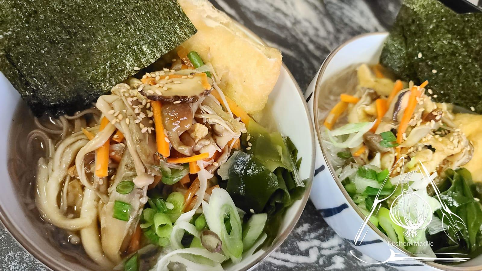 全素日式野菌豆腐湯麵。(Kitchen Madlic提供)