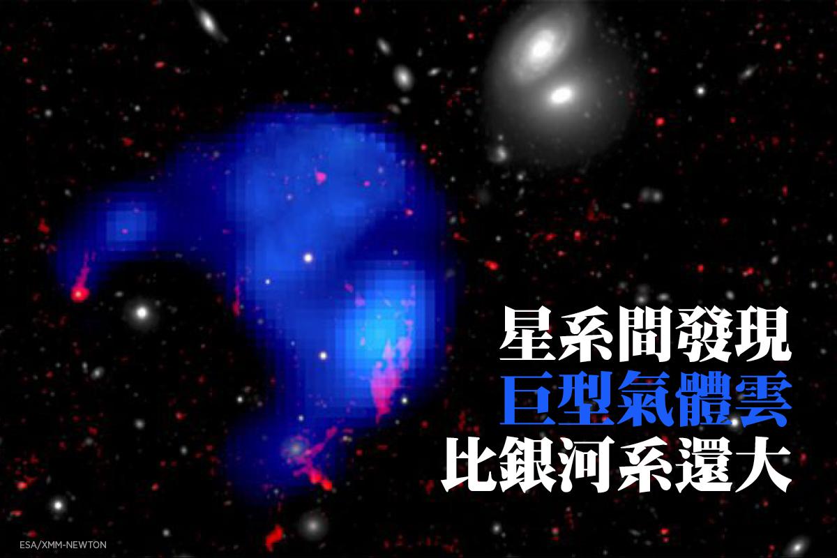 星系間的巨型氣體雲X射線圖像。(ESA/XMM-Newton)