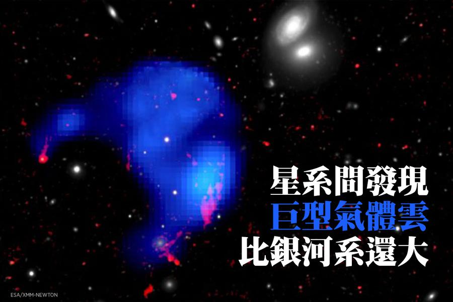 星系間發現巨型氣體雲 比銀河系還大