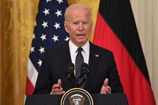 美國總統拜登15日表示,共產主義是一個失敗體系。圖爲美國總統拜登。( SAUL LOEB/AFP )
