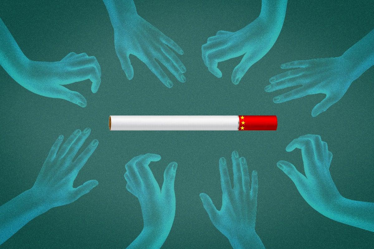 河南中煙公司,一線工人竟然30%是碩士?讓職校生情何以堪?名校生、海歸搶破頭去捲煙,真是編制太吃香?2億多人失業,大學生一畢業就躺平?(大紀元製圖)
