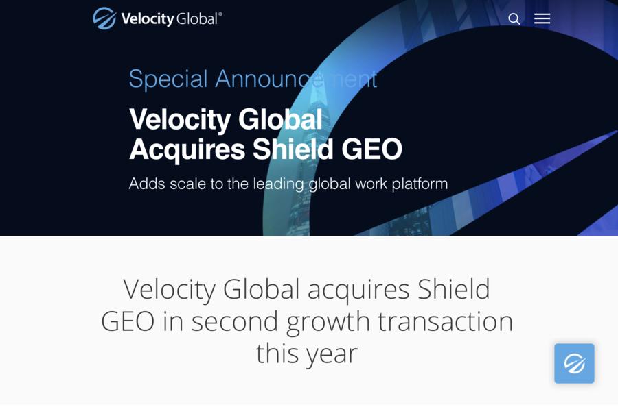 全球名義僱主Velocity Global再下一城 收購香港Shield GEO