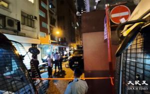 銅鑼灣陳東里小巷 過百名市民被警票控