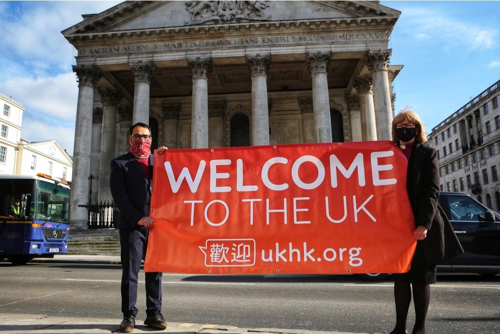 UKHK近日進行一項關於移英港人的調查,訪問了1,012位港人,超過八成的受訪者有信心融入英國社會。(krish kandiah Twitter圖片)