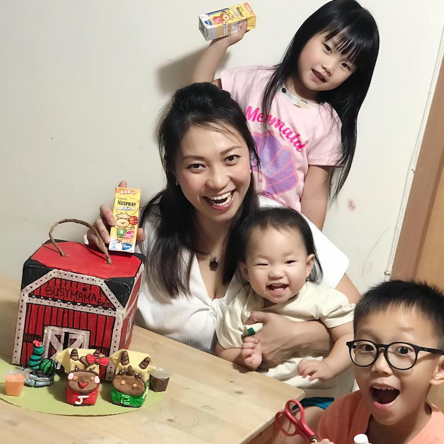 Benny和三個孩子的親子時光。(受訪者提供)