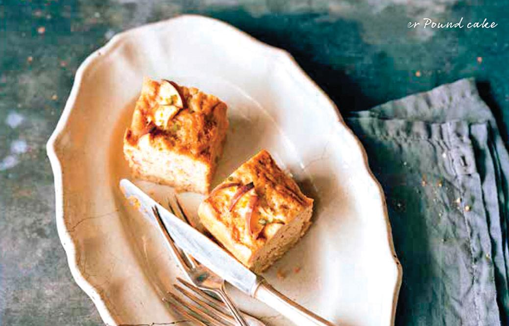 蘋果生薑磅蛋糕是一道有獨特辛辣香氣的甜點。