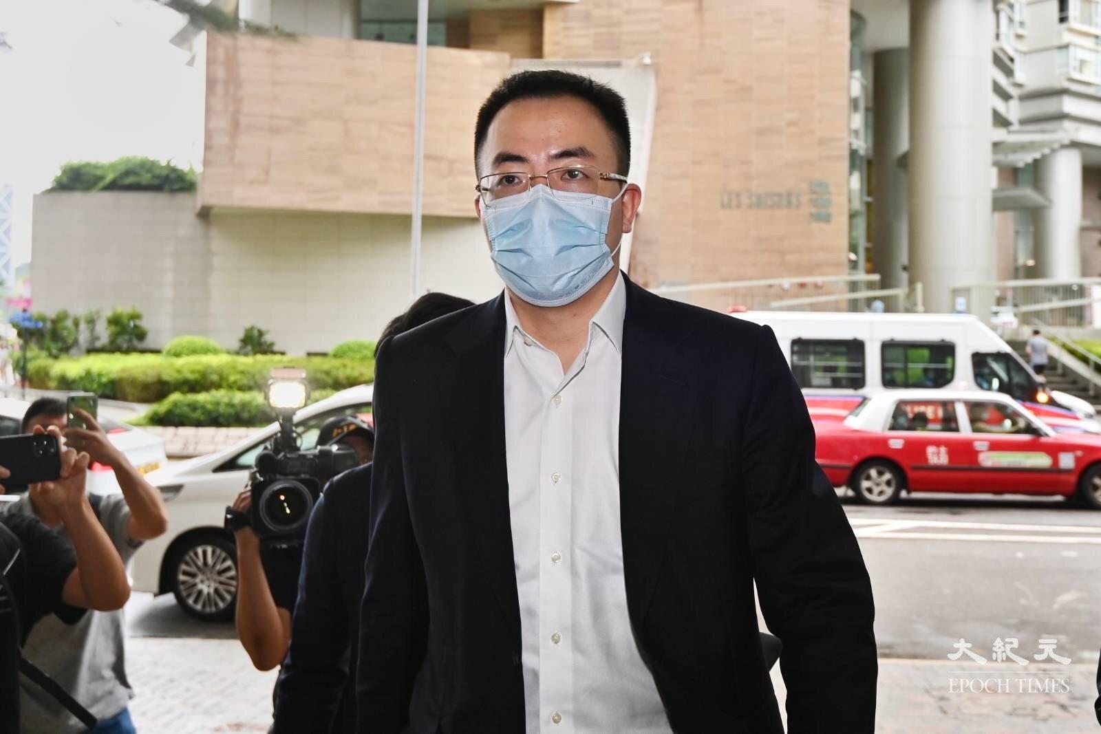 恒大高層陳奮涉嫌強姦,今日(19日)到東區裁判法院聆訊。(宋碧龍 / 大紀元)