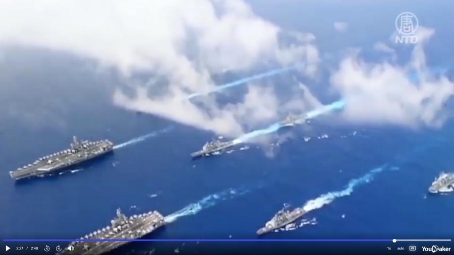共軍距台230公里海域演習 颱風「煙花」來襲