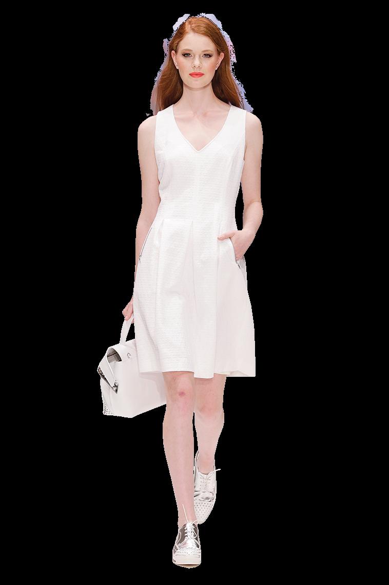 夏日裏  穿上白色洋裝吧!