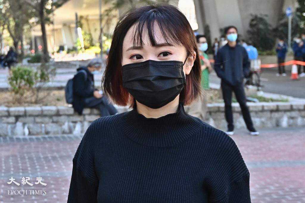 梁凱晴因參與去年六四集會被判囚4個月,今(20日)早刑滿出獄。資料圖片。(宋碧龍/大紀元)