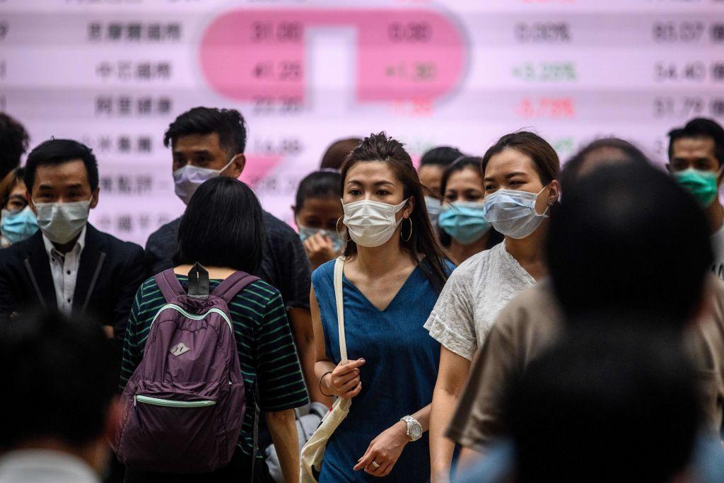 香港今(7月20日)公佈6月失業率為5.5%,按月下降0.5個百分點。(ANTHONY WALLACE/AFP via Getty Images)