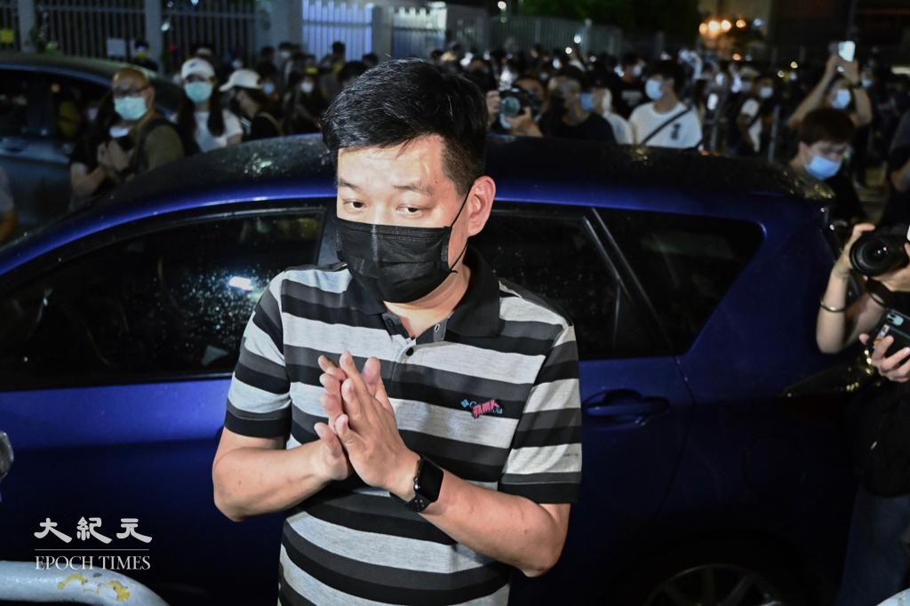 前《蘋果日報》執行總編輯林文宗今(21日)早被警方國安處拘捕。資料圖片。(宋碧龍/大紀元)